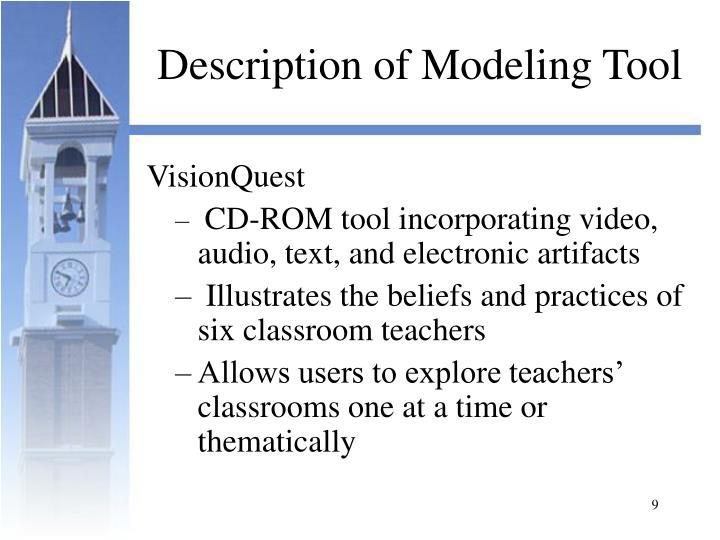 Description of Modeling Tool