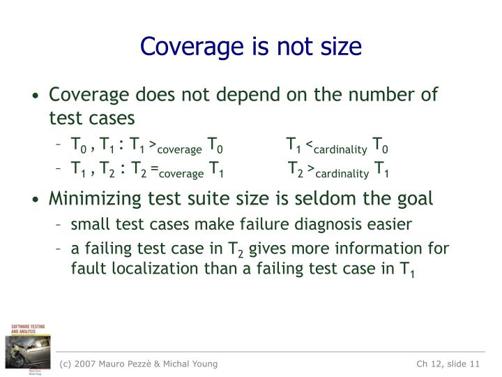 Coverage is not size