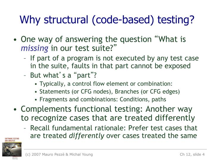 Why structural (code-based) testing?