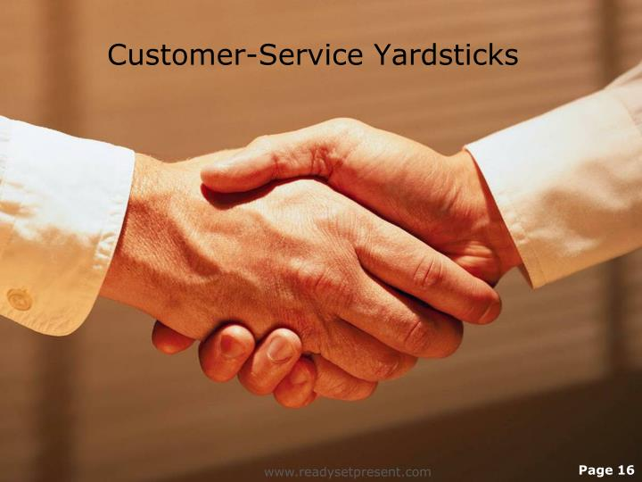 Customer-Service Yardsticks