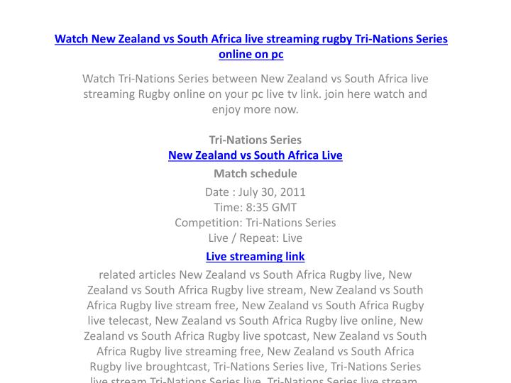 Watch new zealand vs south africa live streaming rugby tri nations series online on pc