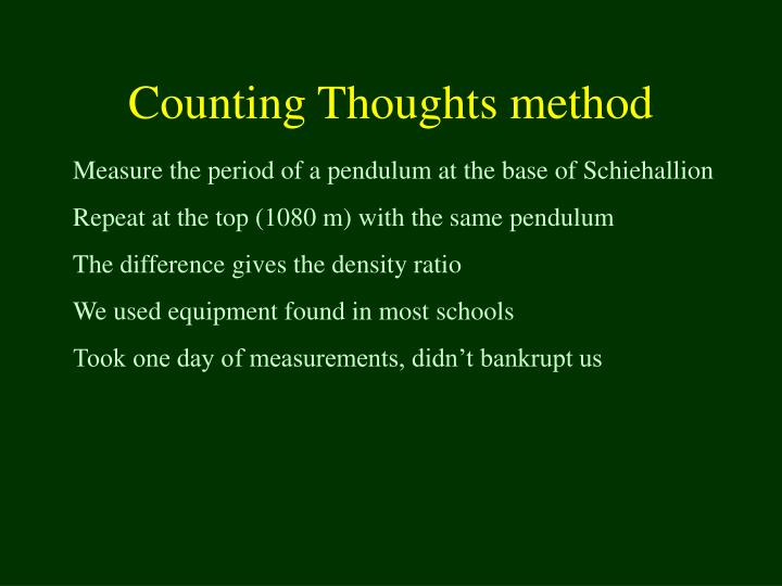Counting Thoughts method