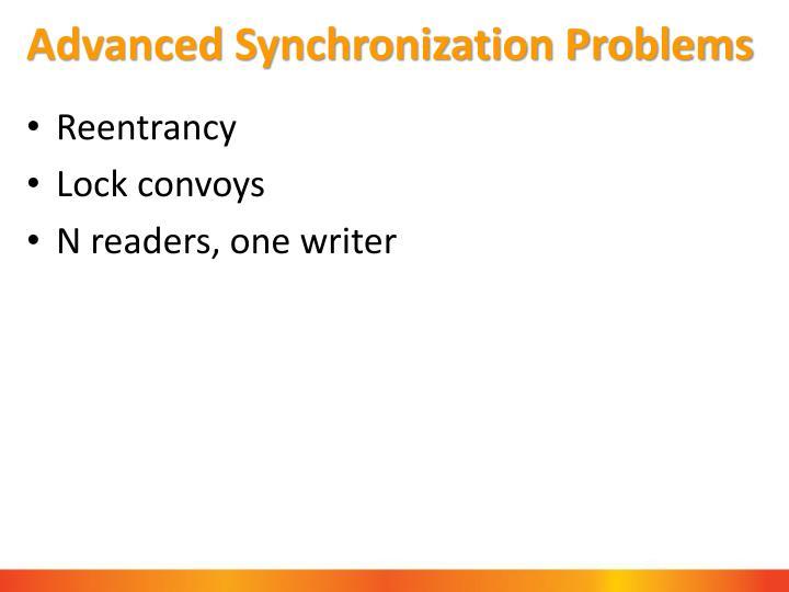 Advanced Synchronization Problems