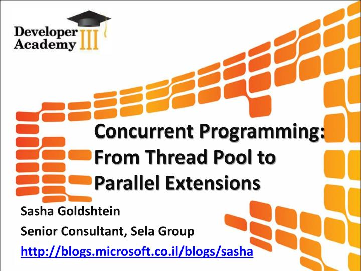 Concurrent Programming: From Thread Pool to Parallel Extensions