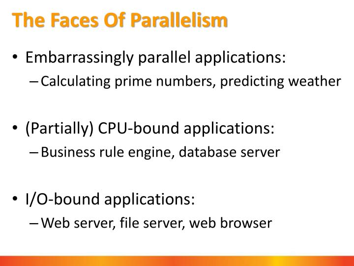 The Faces Of Parallelism