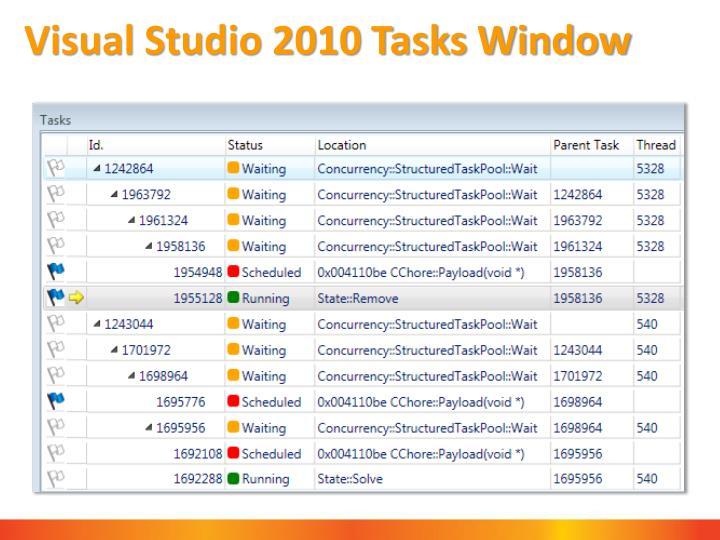 Visual Studio 2010 Tasks Window