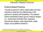 intervention research continuum