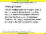 intervention research continuum1