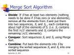 merge sort algorithm