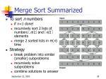 merge sort summarized