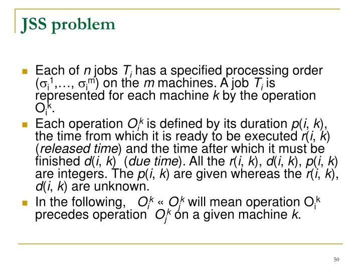 JSS problem