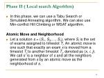 phase ii local search algorithm