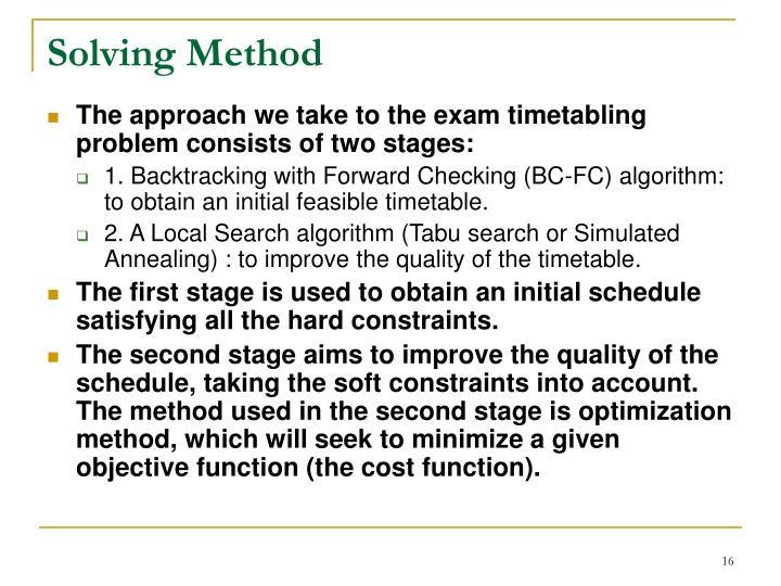 Solving Method