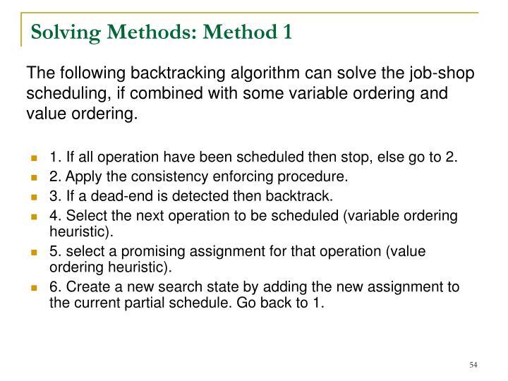 Solving Methods: Method 1