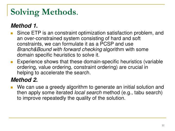 Solving Methods