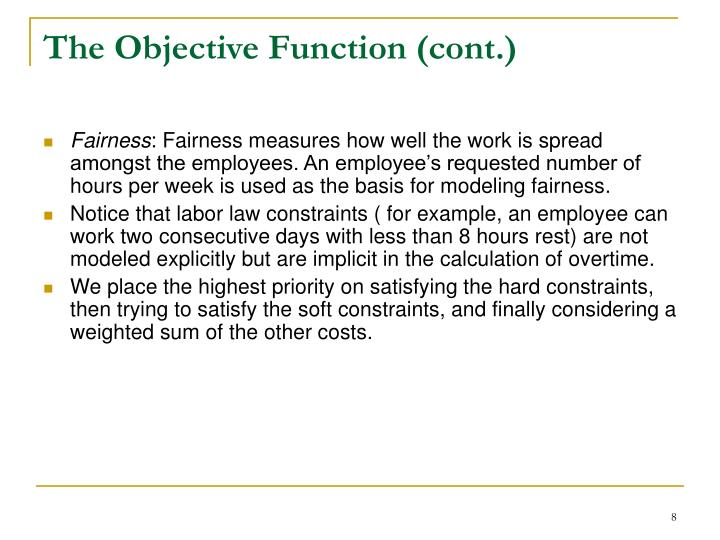 The Objective Function (cont.)