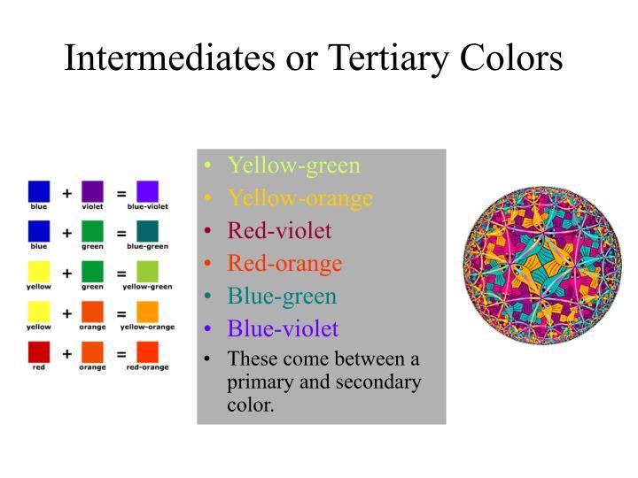 Intermediates or Tertiary Colors