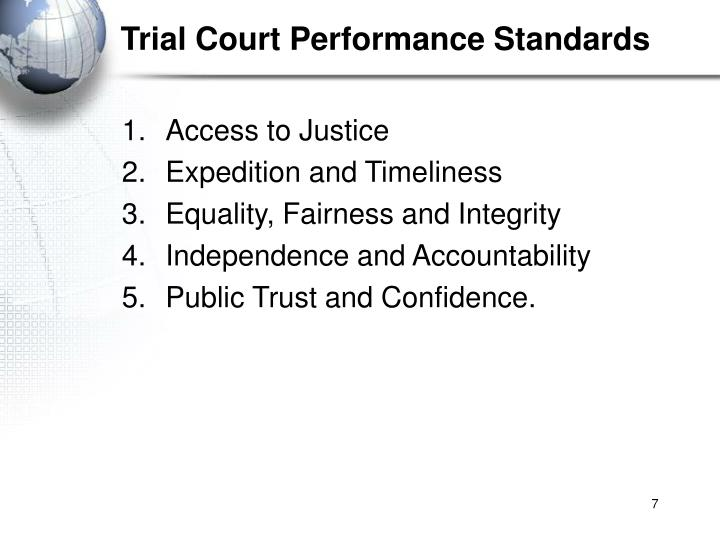Trial Court Performance Standards