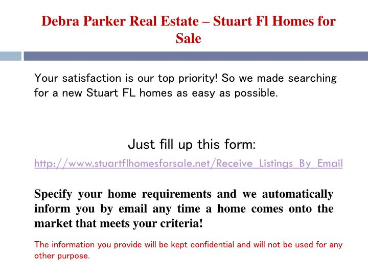 Debra parker real estate stuart fl homes for sale