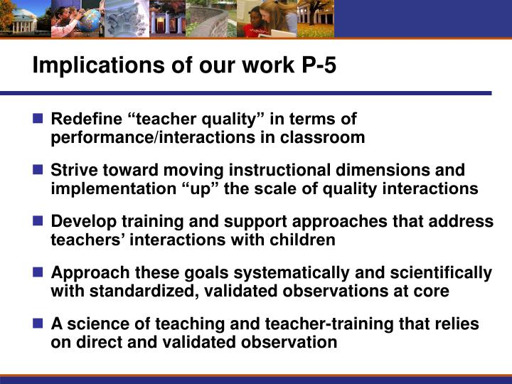 Implications of our work P-5