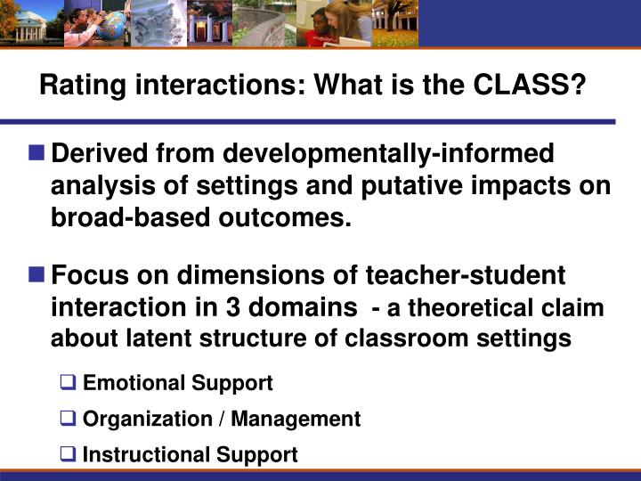 Rating interactions: What is the CLASS?