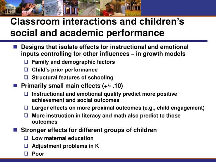 Classroom interactions and children's