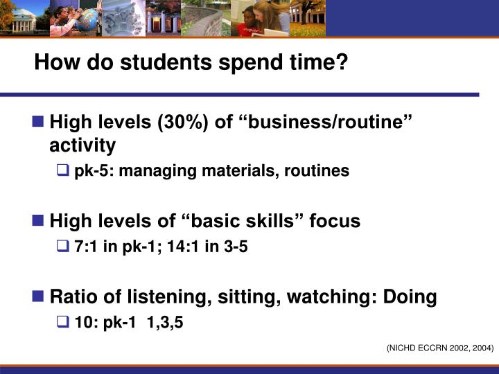 How do students spend time?