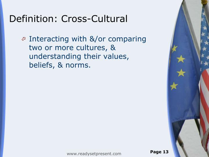 Definition: Cross-Cultural
