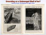grounding on a submerged shelf of ice article from the sphere 27 april 1912