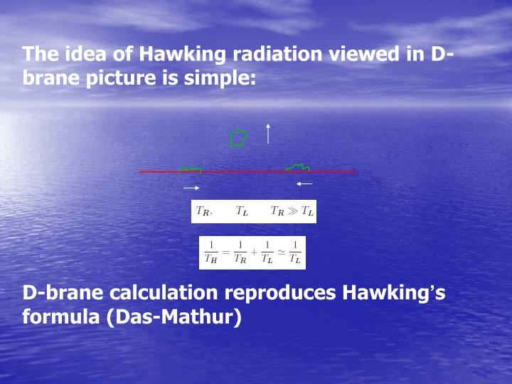The idea of Hawking radiation viewed in D-