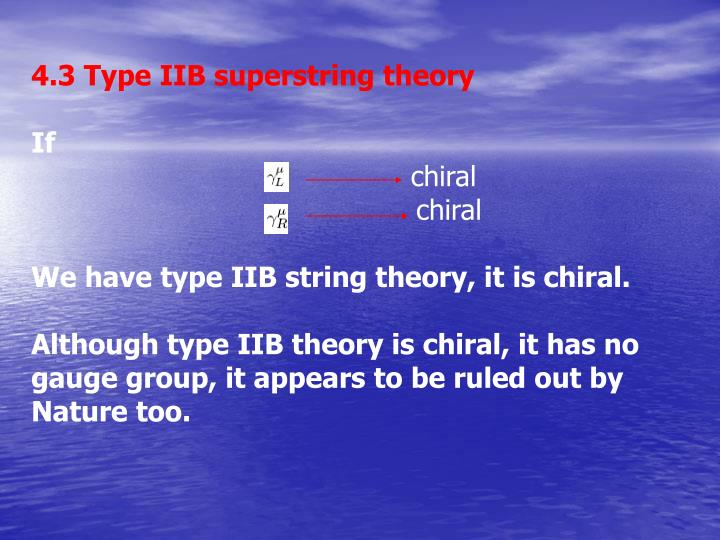 4.3 Type IIB superstring theory
