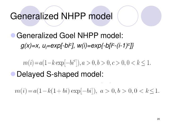 Generalized NHPP model