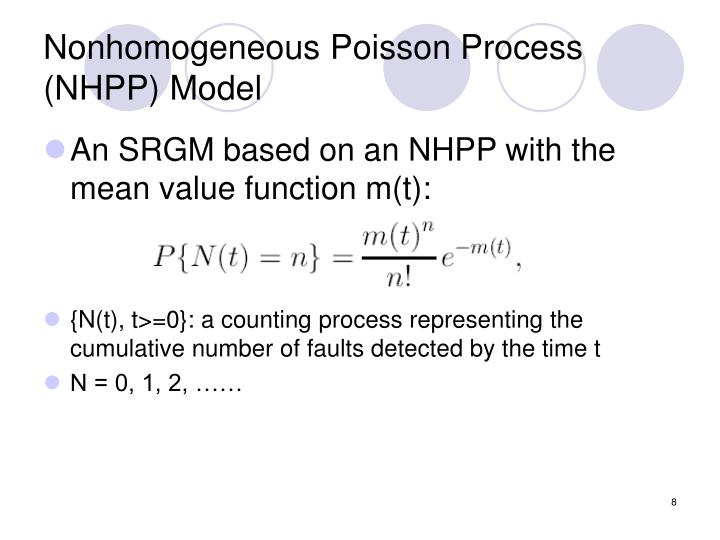 Nonhomogeneous Poisson Process (NHPP) Model