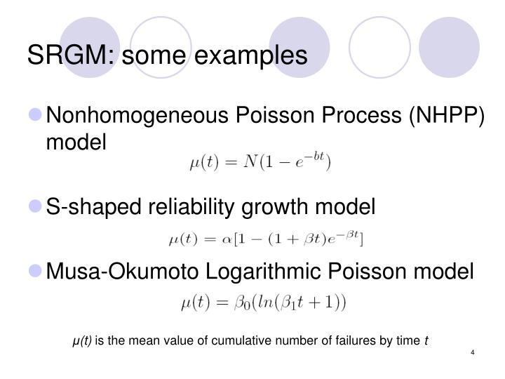 SRGM: some examples