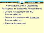 how students with disabilities participate in statewide assessments
