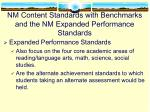 nm content standards with benchmarks and the nm expanded performance standards1