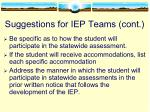 suggestions for iep teams cont1