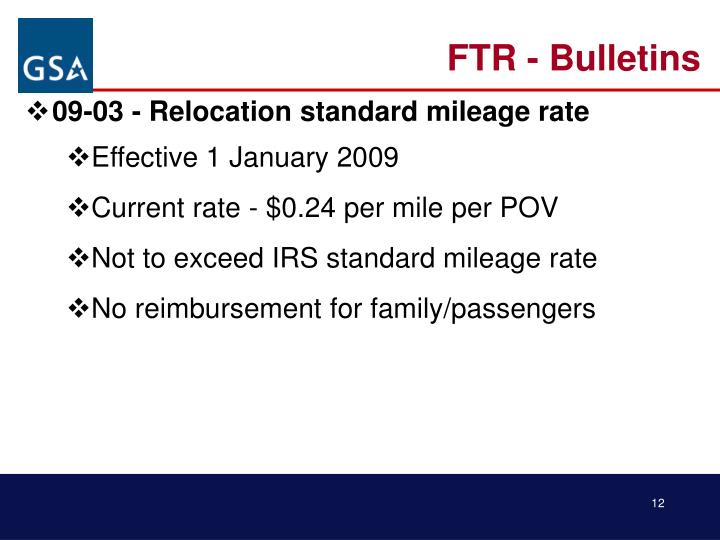 FTR - Bulletins