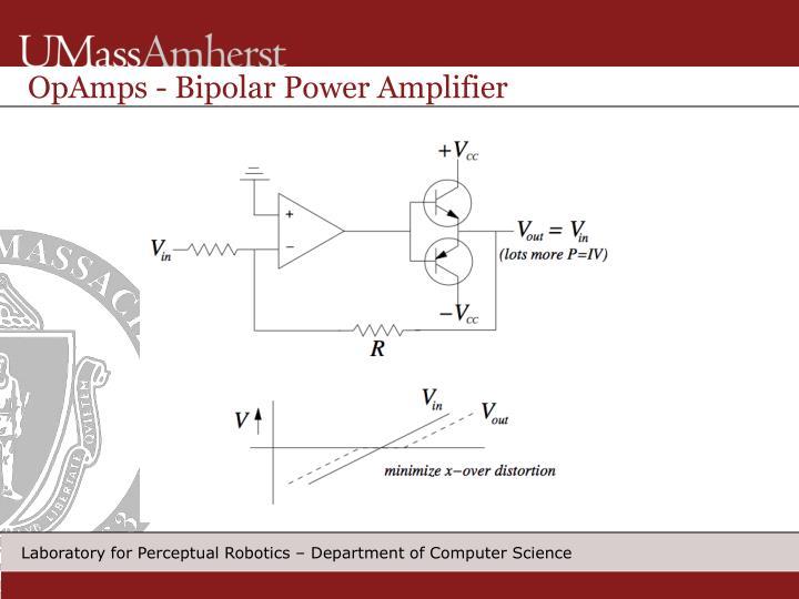 OpAmps - Bipolar Power Amplifier