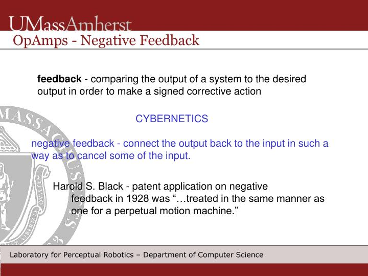 OpAmps - Negative Feedback