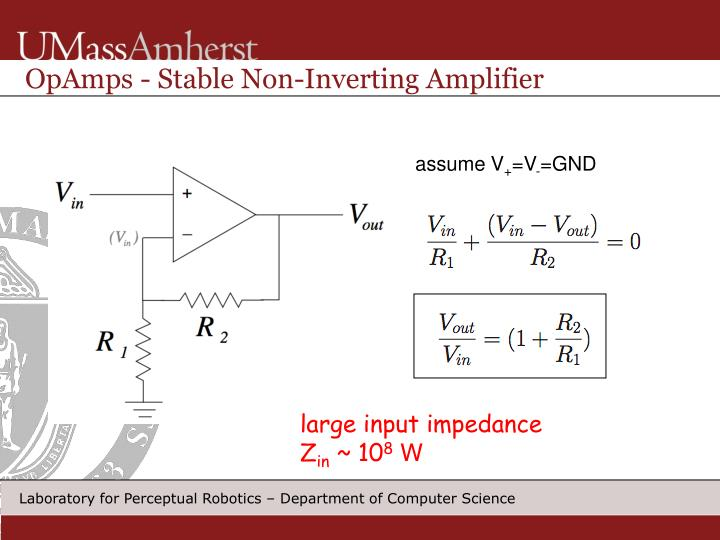 OpAmps - Stable Non-Inverting Amplifier