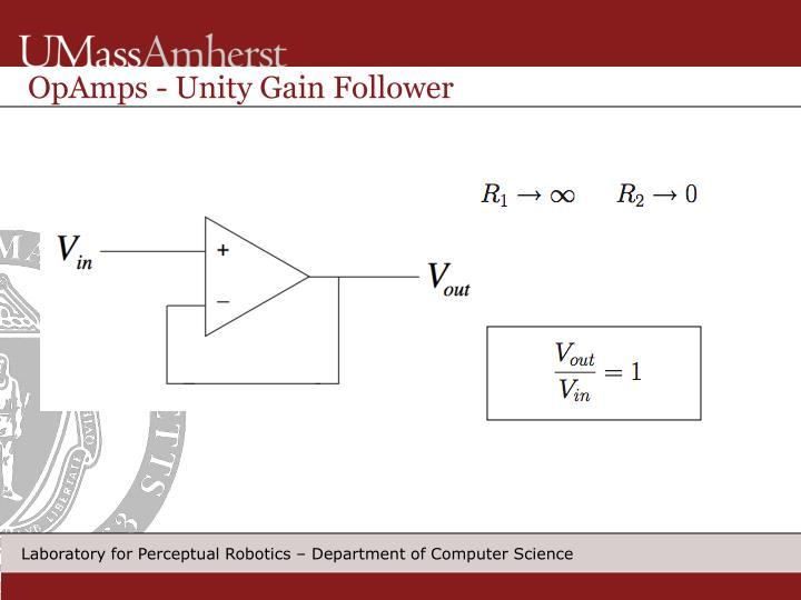 OpAmps - Unity Gain Follower