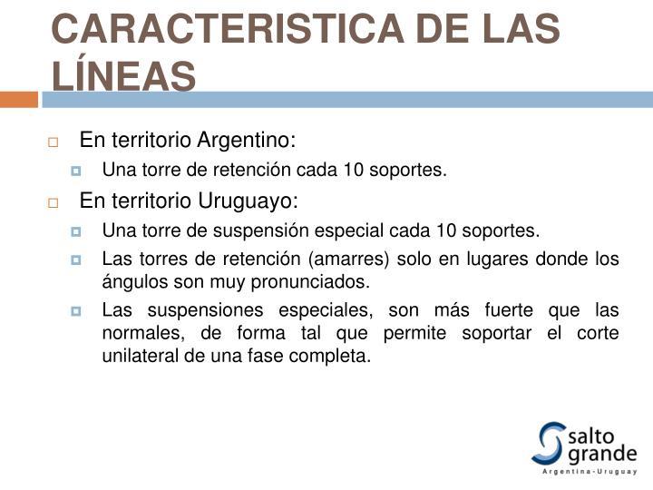 CARACTERISTICA DE LAS LÍNEAS