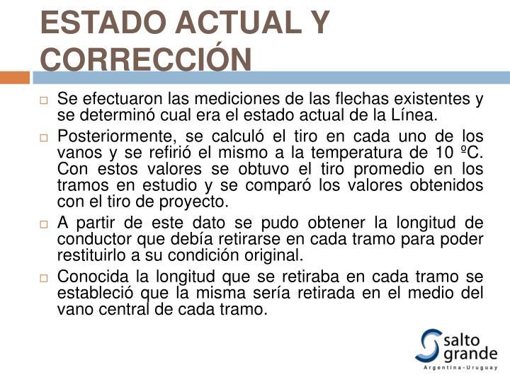 ESTADO ACTUAL Y CORRECCIÓN