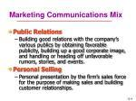 marketing communications mix1