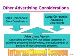 other advertising considerations