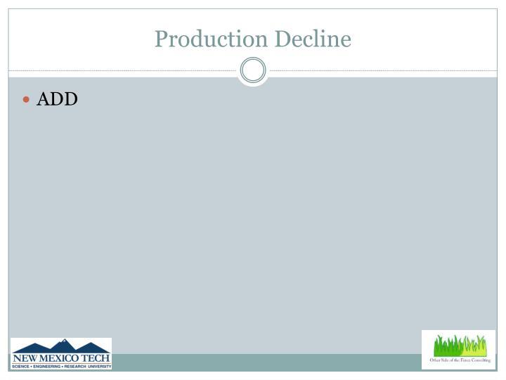 Production Decline