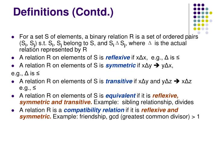 Definitions (Contd.)