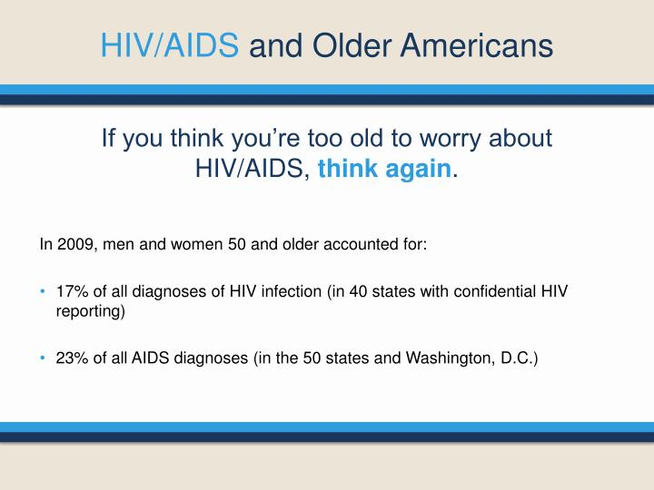 Hiv aids and older americans