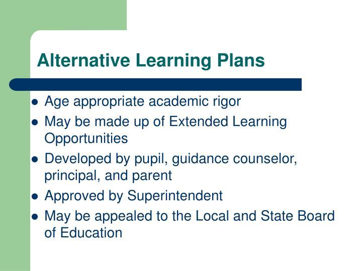 Alternative Learning Plans